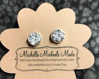 Medium 10mm Silver Earrings