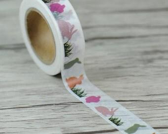 Lapins Washi Masking Tape - Ruban adhésif sur le thème lapin mignon