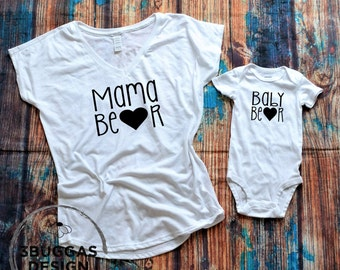 Mommy and Me matching shirts, matching mother and daughter, mama bear matching t shirts, new mom gift, mommy and baby matching set, mama me