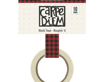 Simple Stories - Cabin Fever Plaid washi tape - Roughin it
