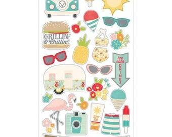 Simple Stories - Summer Days - Chipboard Pieces