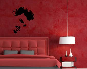 Christian Grey from 50 Shades of Grey side facing silhouette Vinyl Wall Art or sticker