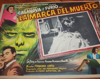 The Brand of the Dead 1960 Mexican Horror Film Movie Lobby Card