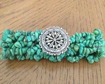 Carolyn Pollack Sterling Turquoise Flex Bracelet