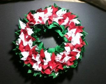 "16"" Holly-day ribbon wreath"