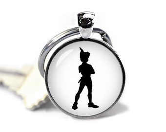 Peter Pan Key Ring Peter Pan Keychain Peter Pan Keyfob  Fangirl Fanboy