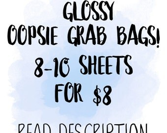 GLOSSY Oopsie Grab Bags | for use with Erin Condren Lifeplanner™, Filofax, Personal, A5, Happy Planner