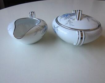Mid-Century Modern Noritake Sugar and Creamer
