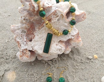 Green Malachite and Gold