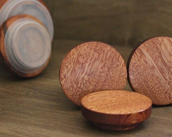 Upcycle Storage idea, Moccona jar lids, Set of 3 med
