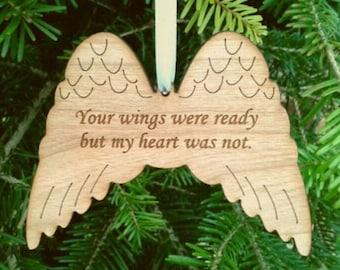 Memorial wings, angel wings, wood, remembrance, memorial, in memory, keepsake, loss, bereavement