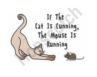 If The Cat Is Cunning - Machine Embroidery Design