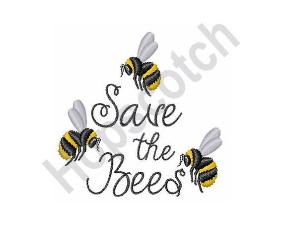 Save the bees machine embroidery design from