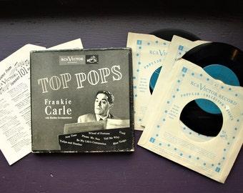 Frankie Carle with Rhythm Accompaniment - Top Pops (45 RPM Vinyl 4 Record Set)