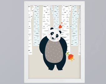 Panda bear - unframed art print