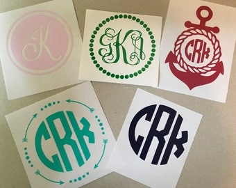 monogram vinyl monogram letters decal vinyl decal for tumbler vinyl monogram for laptop vinyl decal for cell phone