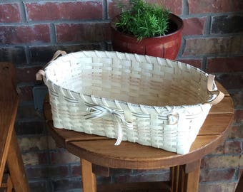 Multipurpose basket with leather handles