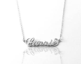 Order 9 cheer squad - Children Name Necklace: Silver Name Necklaces - Name Necklaces Silver - Name Necklaces for children, children Birthday