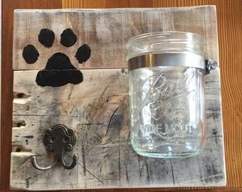 Dog Leash and Treat Holder