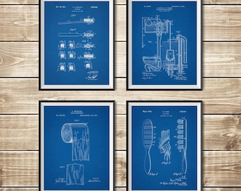Bathroom Poster, Patent Print Group, Bathroom Wall Art, Bathroom Print, Bathroom Patent, Bathroom Sign, Toilet Wall Art, INSTANT DOWNLOAD