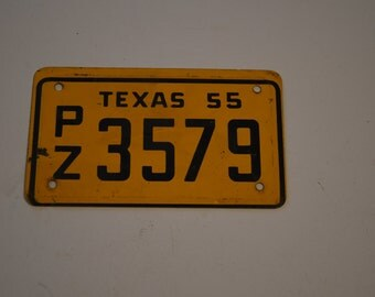 1955 Texas Bicycle License Plate - PZ3579