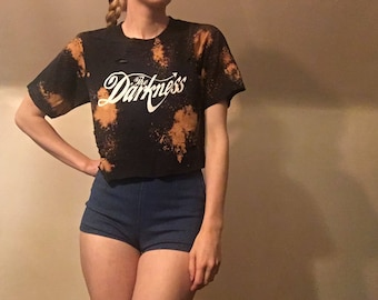 The Darkness Distressed Crop Top