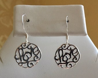 Love Sterling Silver Earrings