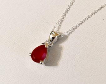 USA FREE SHIPPING!! Sterling Silver Carnelian Pendent