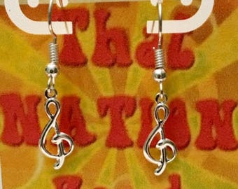 That NATION Band- Treble Clef SF Earrings