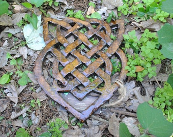 Hand-Carved * Celtic Shield Knot