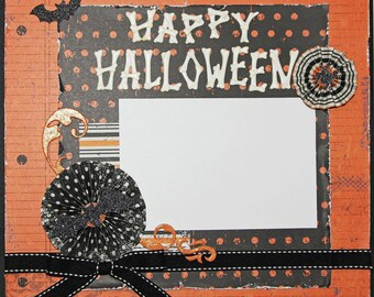 "Premade Scrapbook Page 12 x 12 ""Happy Halloween"""