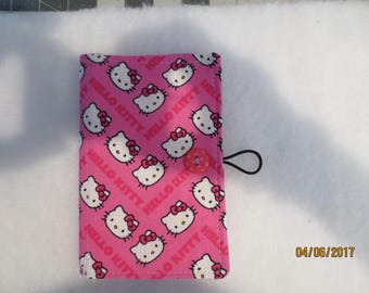 Fabric Notepad/Memo/Grocery list/ Organizer featuring Hello Kitty pattern