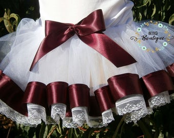 New lace ribbon tutu size 1 -2