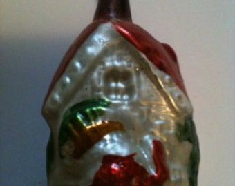 Old original glass Christmas cottage ... from the years 50/60 ...