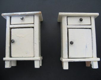 For the dollhouse...two white french bedside tables...20 Years!