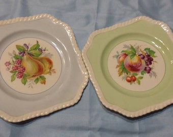 Decorative plates by Johnson Bros Made in England.
