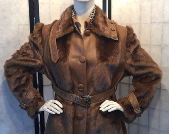 Retro coat Super sixties seventies jaren 60 70 retro mantel jas als nieuw like new XL