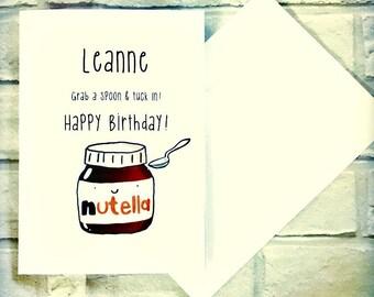 Personalised Nutella Birthday Card!