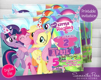 Little Pony printable Invitation
