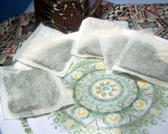 Organic Peppermint Leaf Tea Bags - Mentha piperita herbal herb caffeine free - unbleached hemp blend fiber  - 1 6 12 20 or 4 ounce bulk