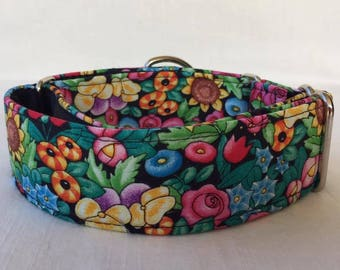 Secret Garden Martingale Dog Collar