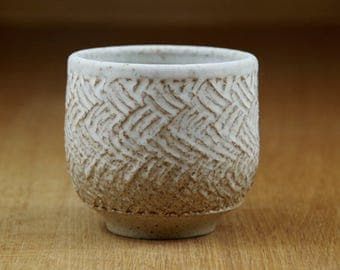 Ceramic Tea Bowl, Tea Cup, Handless Mug, Pottery Cup, Handmade Stoneware Teacup, Ceramic Tumbler