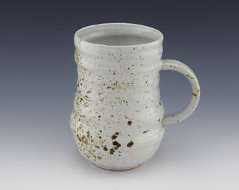 Handmade Ceramic Mug, Coffee Cup, Coffee Mug, Speckled Mug, Wheelthrown, 14 oz