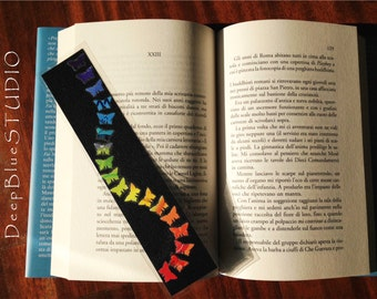 Bookmark Rainbow on black construction paper