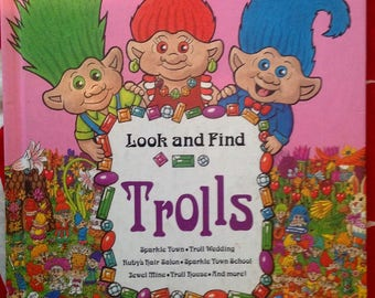 Look and Find Trolls 90's vintage children's activity book