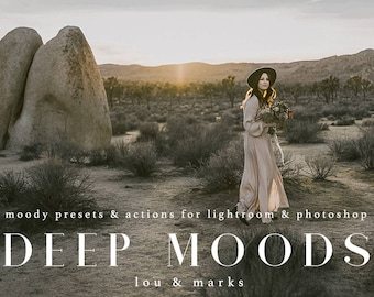 60 Deep Moods Lightroom & Photoshop Presets for Professional Moody Results by LouMarksPhoto