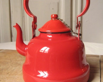 Metal teapot etsy for Bouilloire made in france