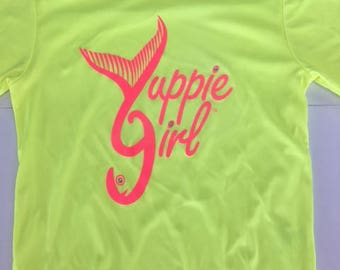 Yuppie Girl Neon Yellow LNG sleeve youth