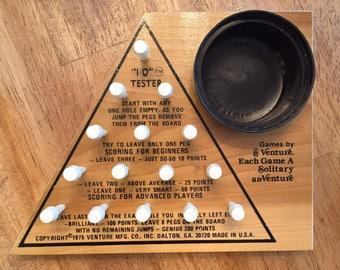 """1975 Complete / Rare """"IQ"""" Tester by Venture Games made in USA, Dalton GA"""