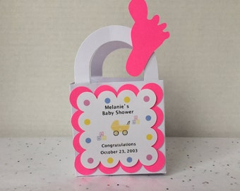 Baby Shower Favors Boxes Bags Set of 12